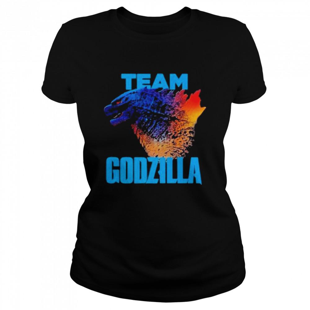 godzilla vs kong team godzilla neon 2021 shirt Classic Women's T-shirt