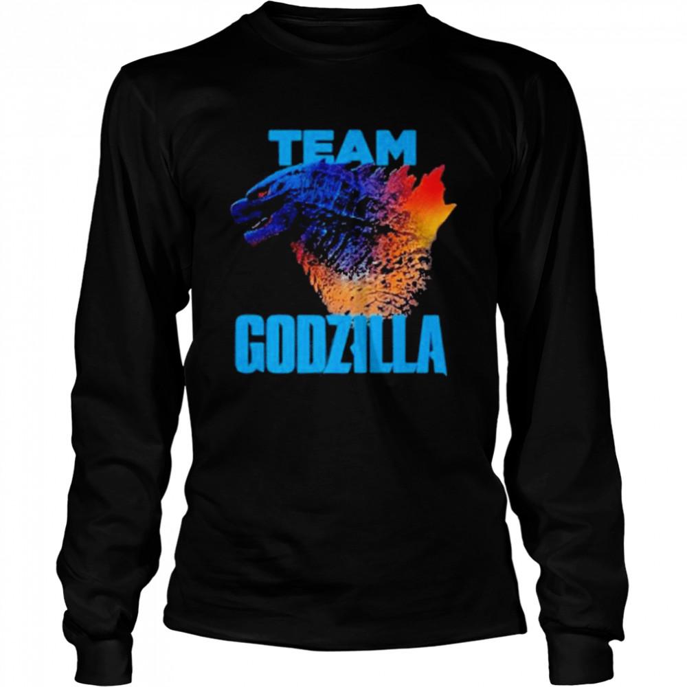 godzilla vs kong team godzilla neon 2021 shirt Long Sleeved T-shirt