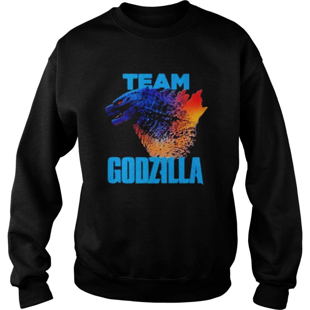 godzilla vs kong team godzilla neon 2021 shirt Unisex Sweatshirt