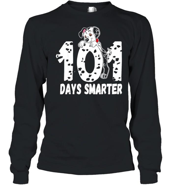 101 Days Smarter Dalmation Dog shirt Long Sleeved T-shirt