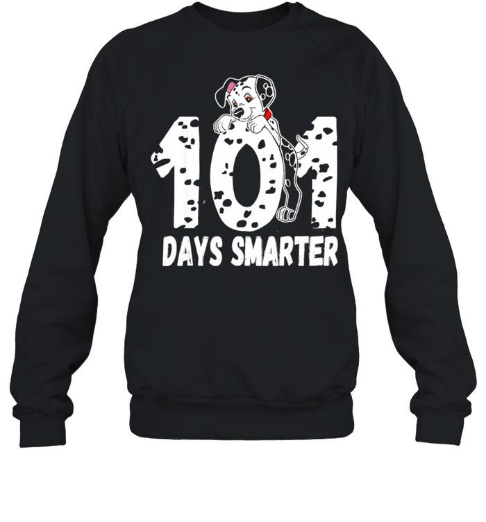 101 Days Smarter Dalmation Dog shirt Unisex Sweatshirt