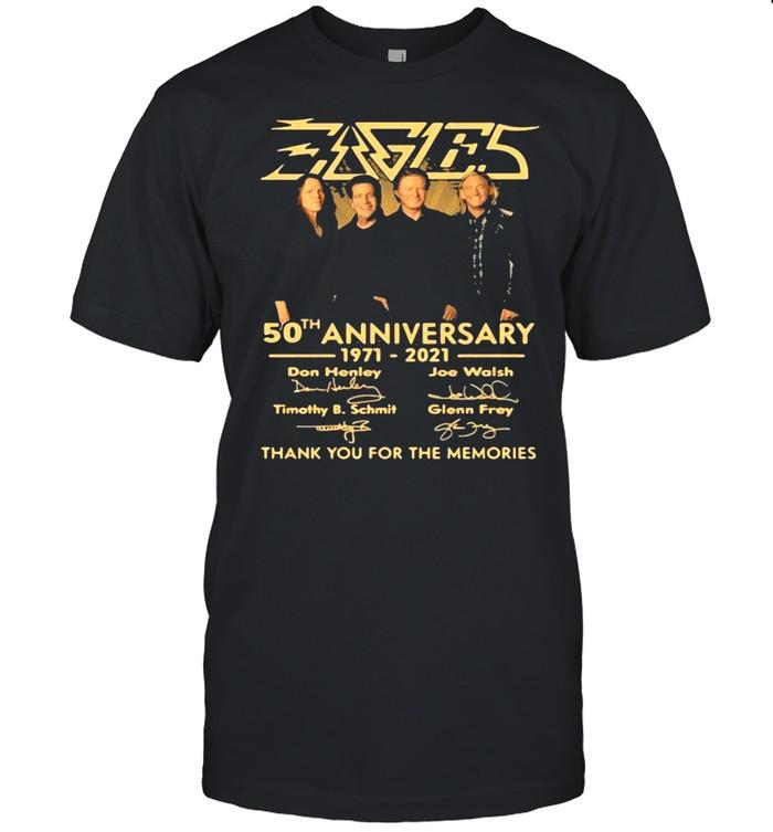Eagles 50th Anniversary 1971 2021 Don Henley, Joe Walsh Timothy B. Schmit Signature shirt Classic Men's T-shirt