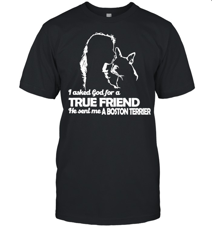 I asked God for a True Friend he sent me a Boston Terrier and Girl shirt Classic Men's T-shirt