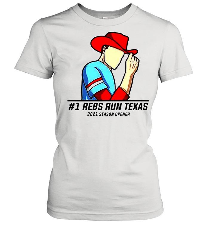 #1 Reps Run Texas 2021 Season Opener shirt Classic Women's T-shirt