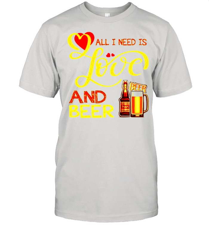 All I need is love and beer shirt Classic Men's T-shirt
