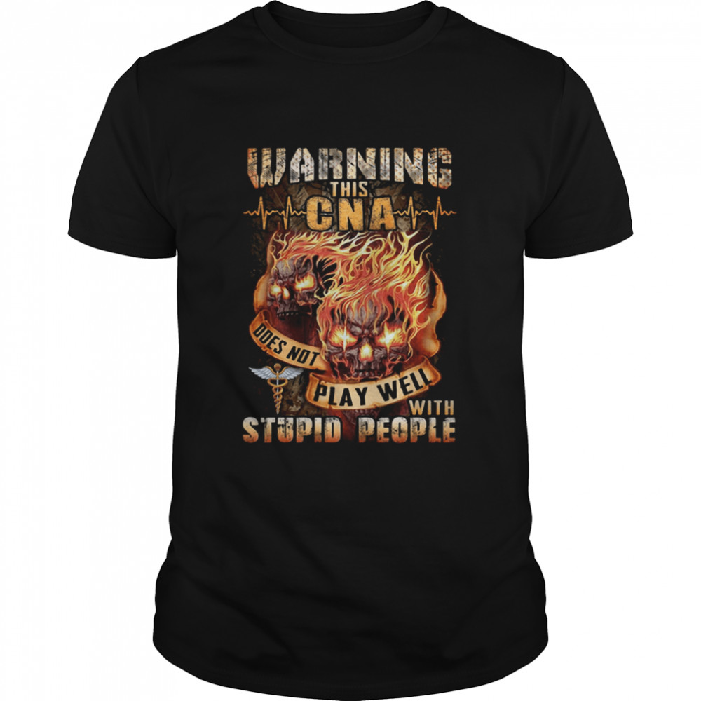 Warning this Bus Driver doesn't play well with stupid people shirt Classic Men's T-shirt