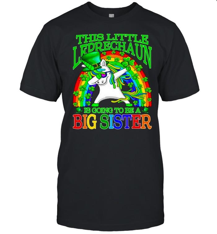 Dabbing Unicorn This Little Leprechaun Is Going To Be A Big Sister shirt Classic Men's T-shirt