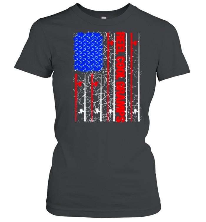 Reel Cool Gramps American flag 2021 shirt Classic Women's T-shirt