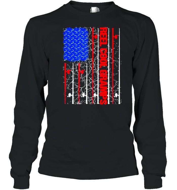Reel Cool Gramps American flag 2021 shirt Long Sleeved T-shirt