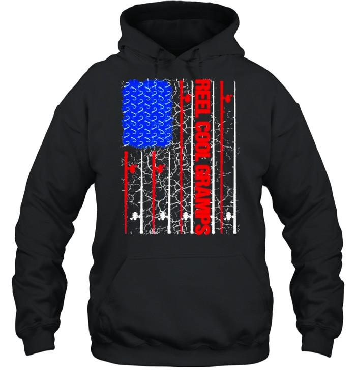 Reel Cool Gramps American flag 2021 shirt Unisex Hoodie