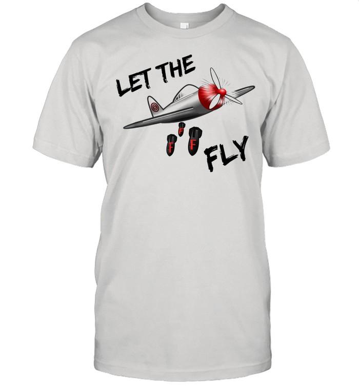 Dropping the F Bomb Plane Cussing Adult Humor shirt Classic Men's T-shirt