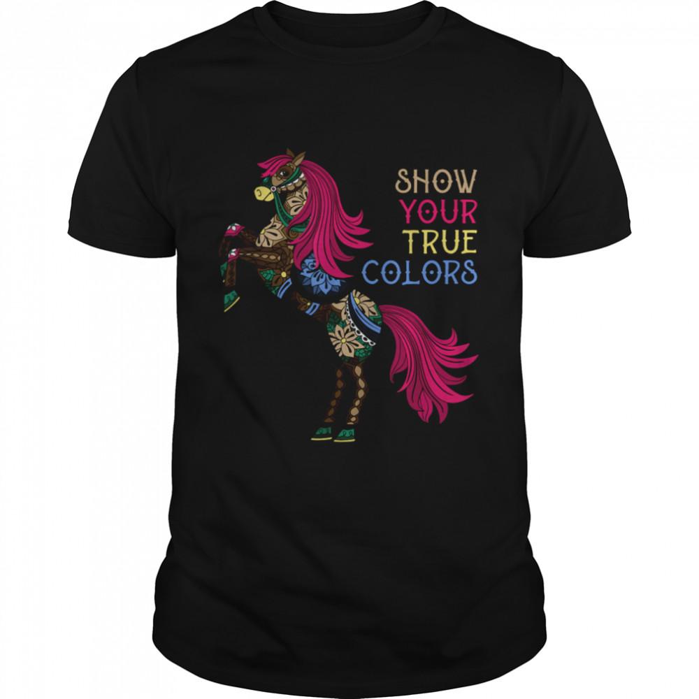 Mandala Horse Show Your True Color Equestrian Horse shirt Classic Men's T-shirt