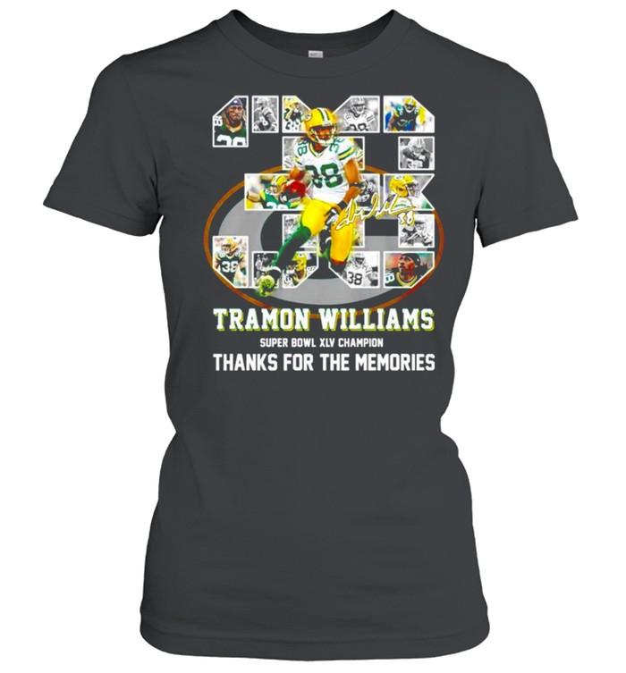38 Tramon Williams super bowl XLV champion thanks for the memories shirt Classic Women's T-shirt