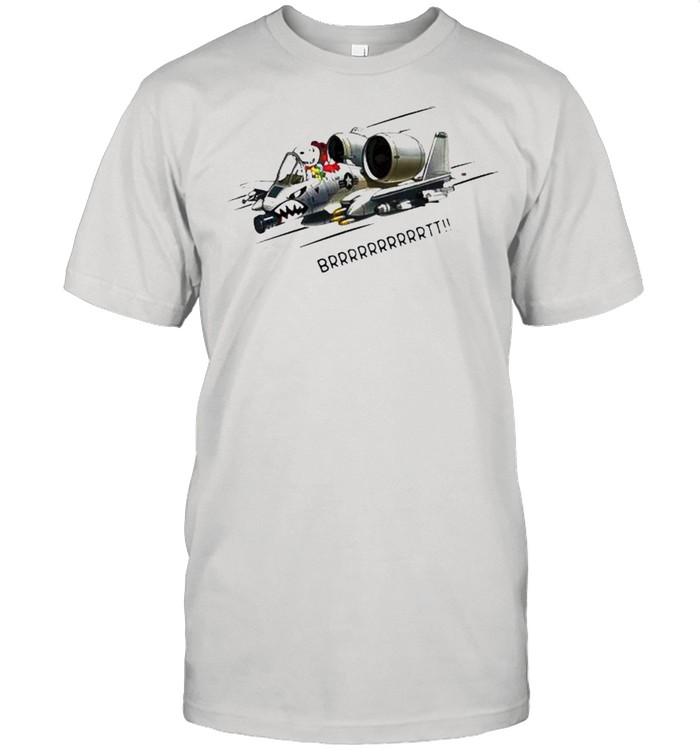 Snoopy fighter aircraft brrrtt shirt Classic Men's T-shirt