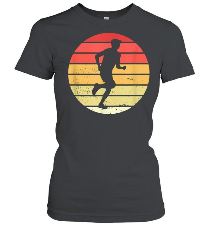 Vintage marathon runner jogger running shirt Classic Women's T-shirt