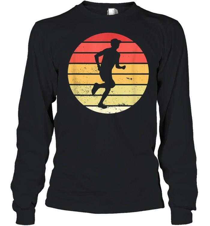 Vintage marathon runner jogger running shirt Long Sleeved T-shirt