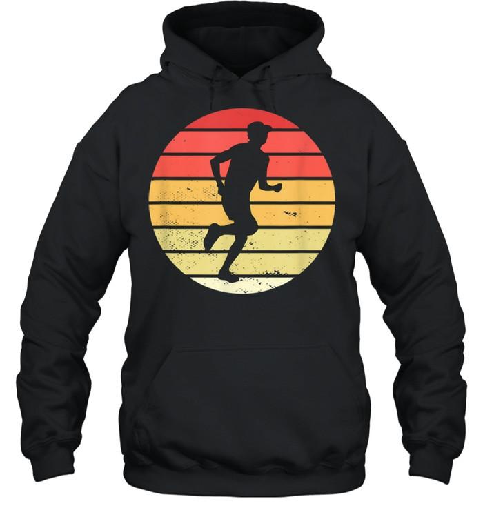Vintage marathon runner jogger running shirt Unisex Hoodie