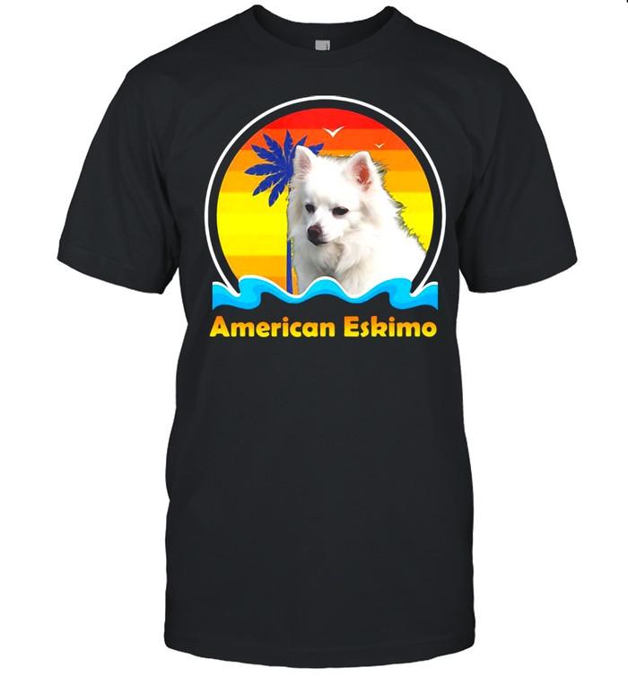 American Eskimo Vintage Retro T-shirt Classic Men's T-shirt