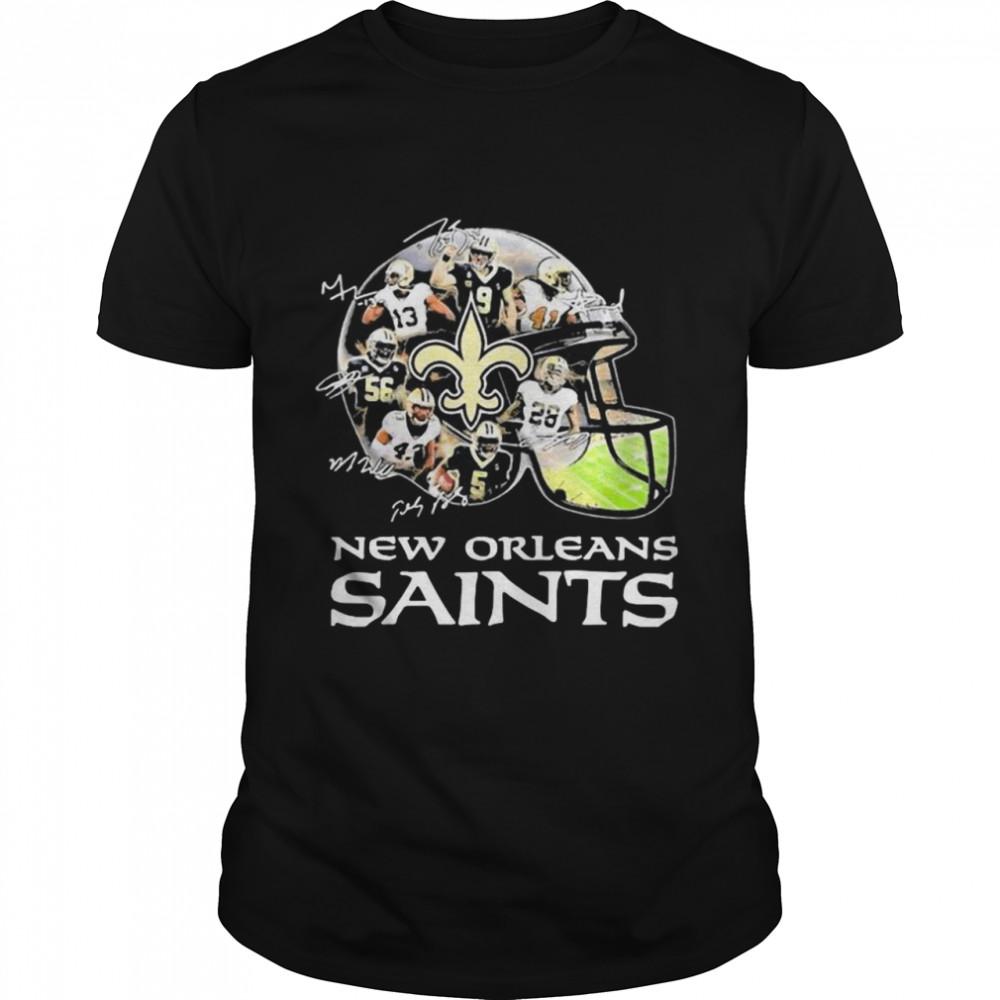 New Orleans Saints Team Football Players Signature shirt Classic Men's T-shirt