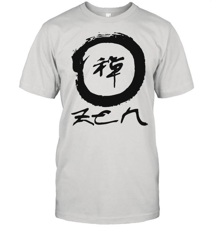 Zen Enso With Japanese Enso Circle And Zen Kanji shirt Classic Men's T-shirt