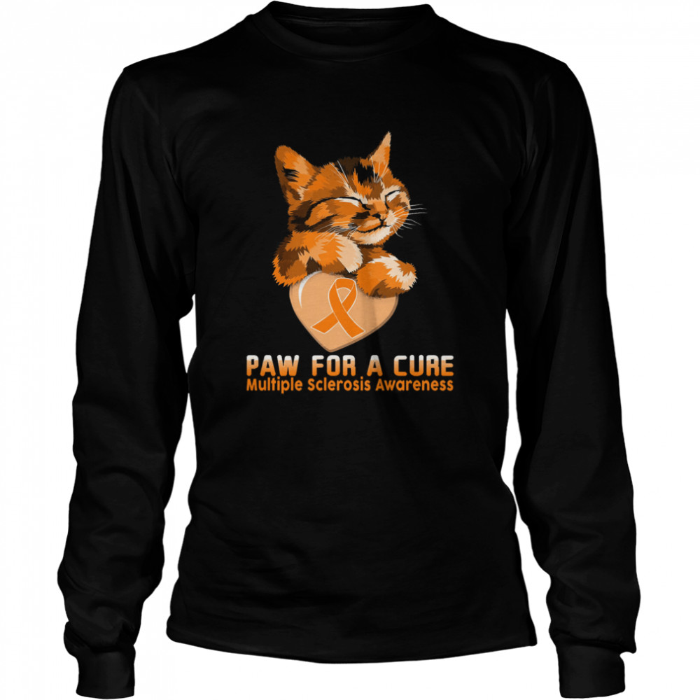 Cat paw for a cure multiple sclerosis awareness shirt Long Sleeved T-shirt