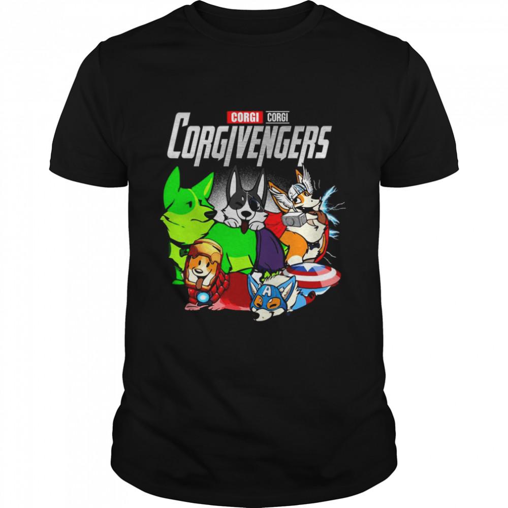 Good Marvel Avenger Corgi Corgi Corgivengers T-shirt Classic Men's T-shirt