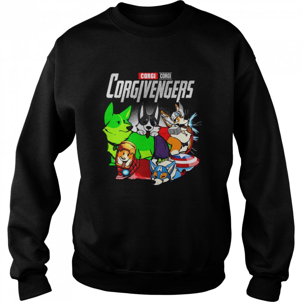 Good Marvel Avenger Corgi Corgi Corgivengers T-shirt Unisex Sweatshirt