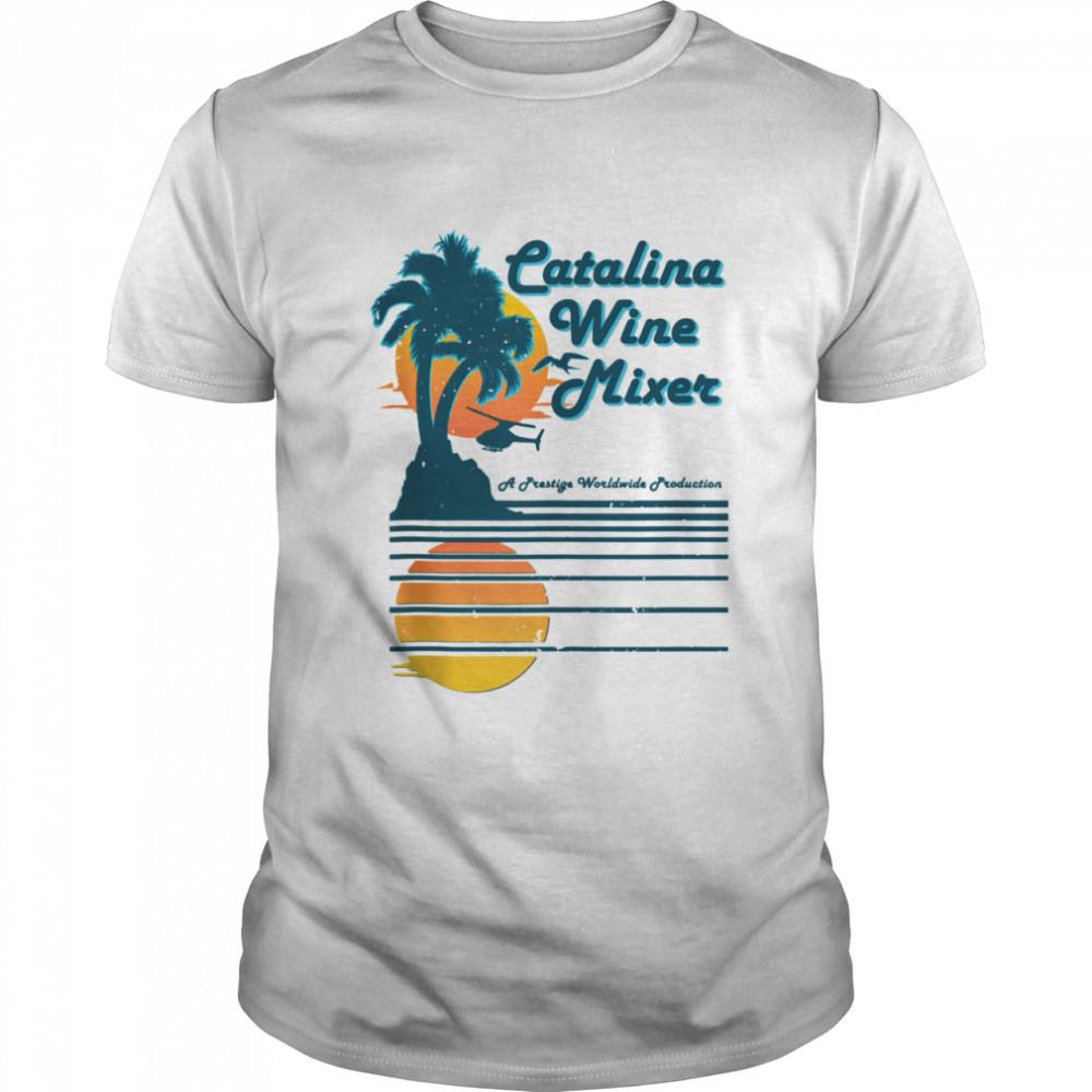Mixer Catalina Wine Palm and beach shirt Classic Men's T-shirt
