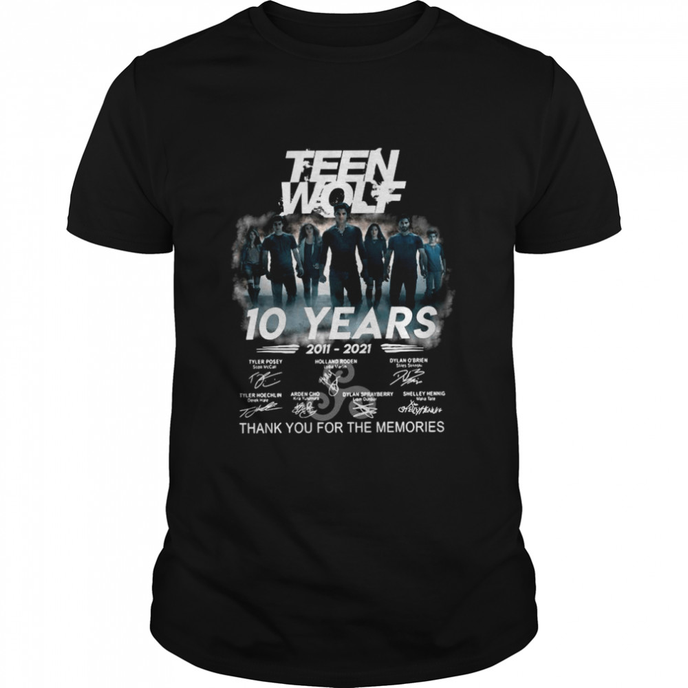 The Teen Wolf 10 Years 2011 2021 Signatures Thank You For The Memories shirt Classic Men's T-shirt
