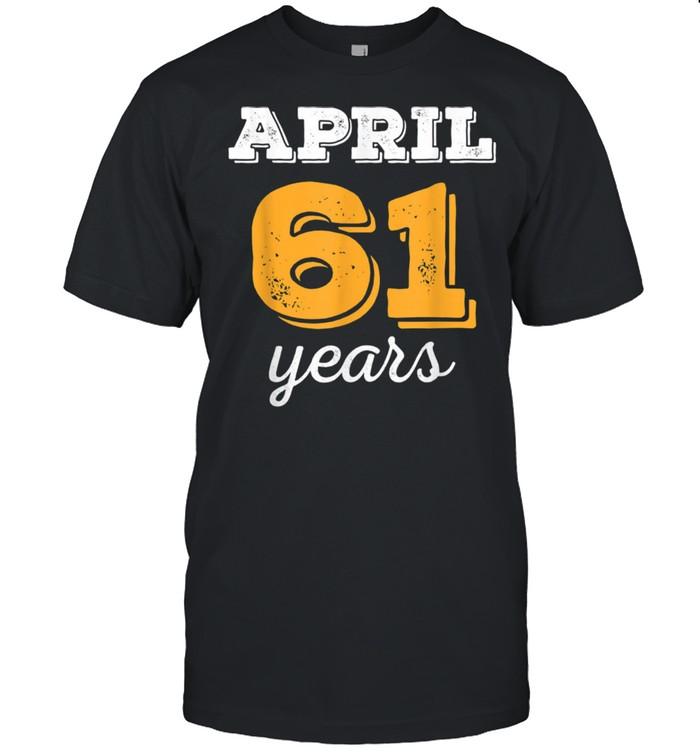 61 Yr Old Vintage Sport Decorations 61st Birthday April 1960  Classic Men's T-shirt