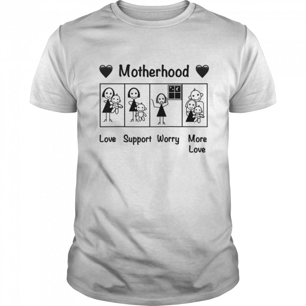 Motherhood Love Support Worry More Love  Classic Men's T-shirt