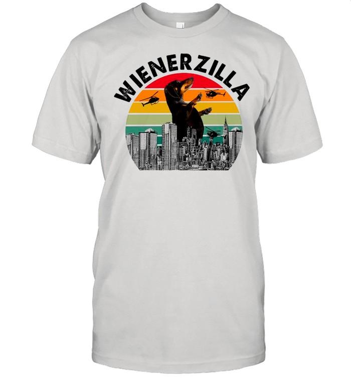 Dachshund Wiener Zilla Vintage Retro shirt Classic Men's T-shirt