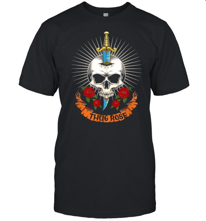 Thug Rose Skull Logo  Classic Men's T-shirt