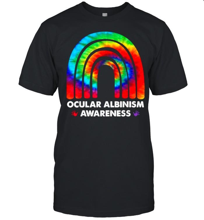 We Wear Rainbow Heart For Ocular Albinism Awareness T- Classic Men's T-shirt