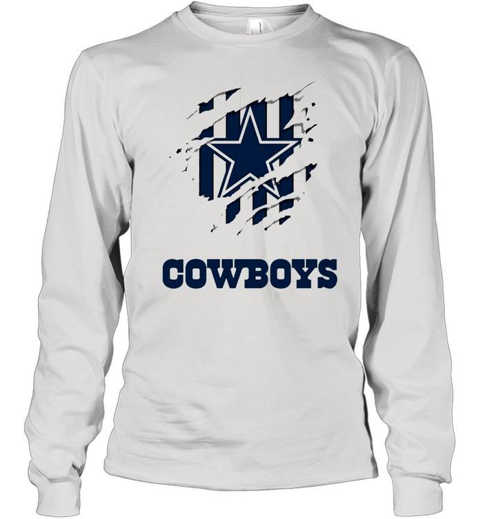 Dallas Cowboys Logo Claw shirt Long Sleeved T-shirt