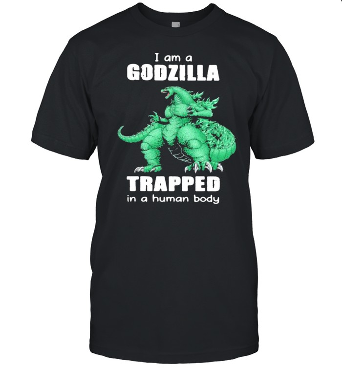 I am a Godzilla trapped in a human baby monster shirt Classic Men's T-shirt