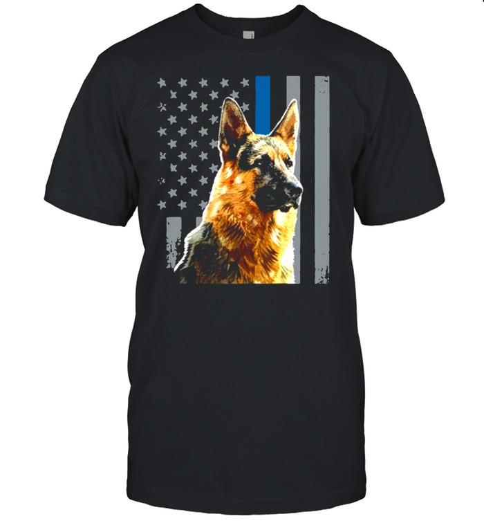 Patriotic Dog German Shepherd American Flag shirt Classic Men's T-shirt
