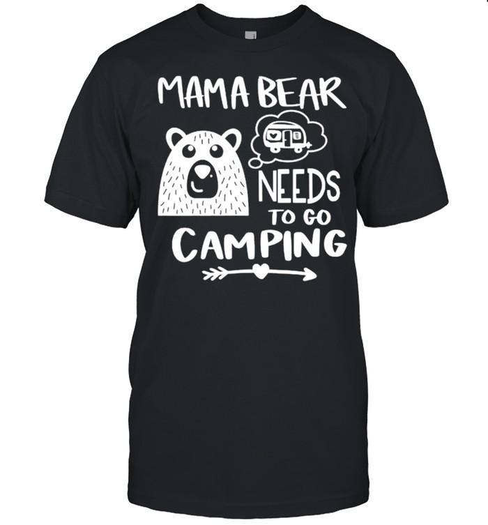 Mama bear needs to go camping shirt Classic Men's T-shirt