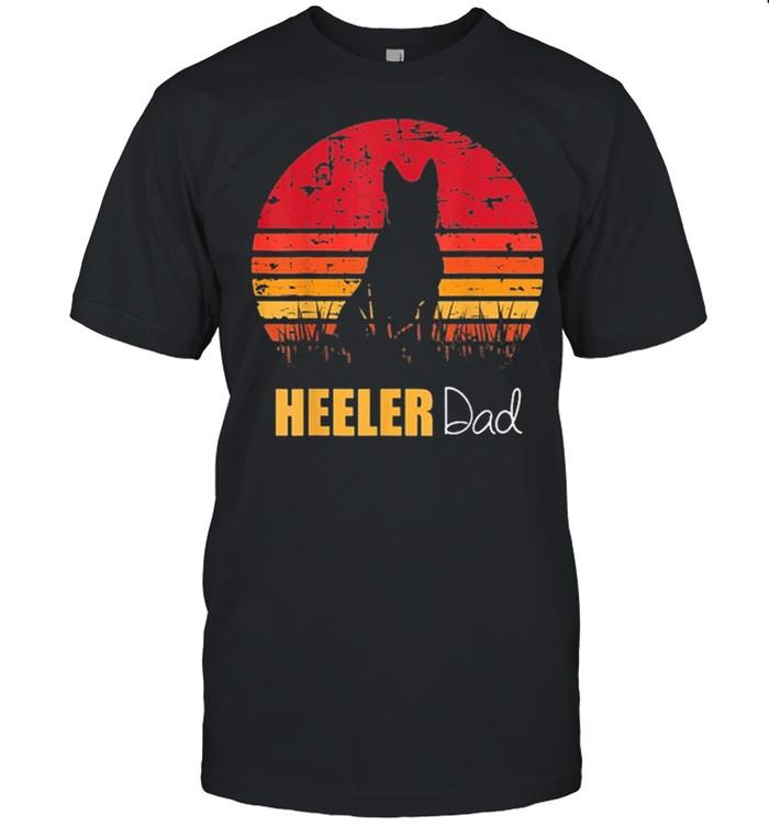 Blue heeler dad vintage shirt Classic Men's T-shirt