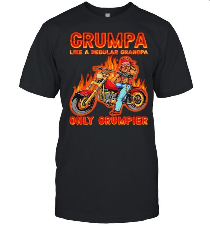 Grumpa like a regular grandpa only grumpier shirt Classic Men's T-shirt
