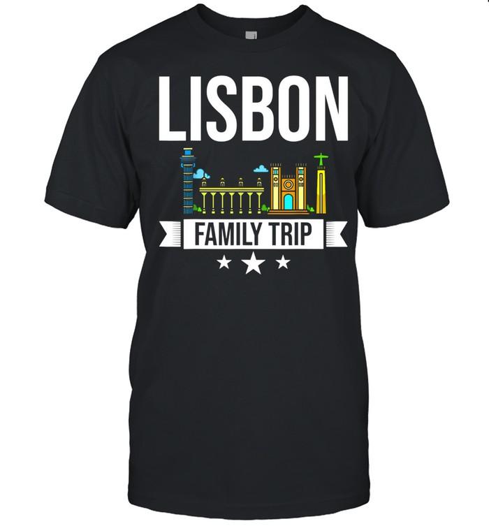 Lisbon Portugal City Trip Skyline Map Travel shirt Classic Men's T-shirt