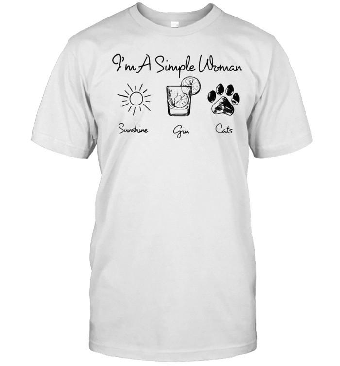 Im a simple woman sunshine gin cats shirt Classic Men's T-shirt
