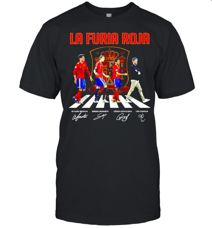 La Furia Roja Abbey Road signatures shirt Classic Men's T-shirt