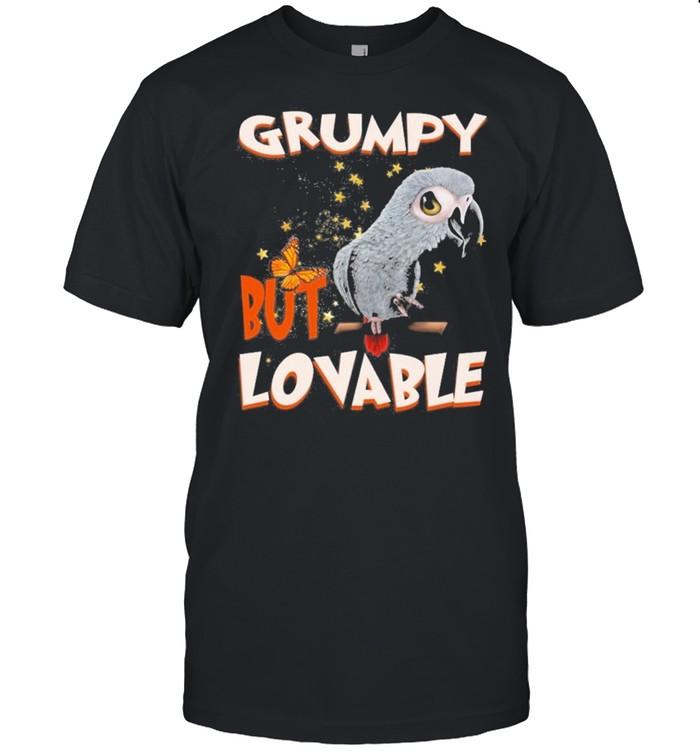 African Grey Parrot Grumpy But Lovable shirt Classic Men's T-shirt