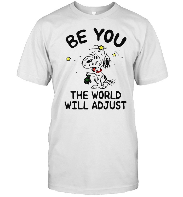 Snoopy be you the world will adjust shirt Classic Men's T-shirt