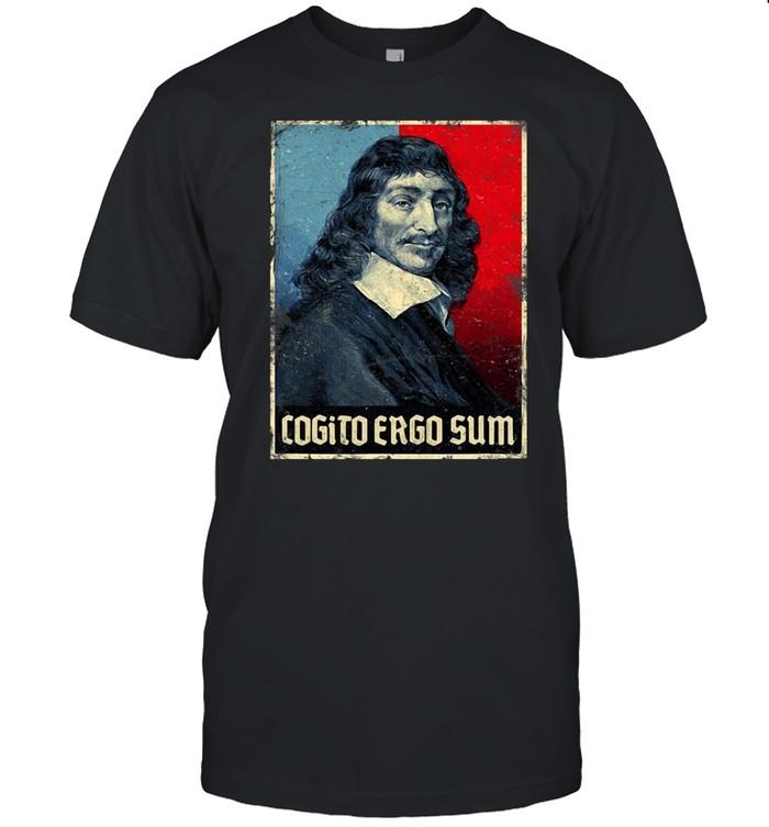 Cogito Ergo Sum René Descartes Principles Philosophy Vintage  Classic Men's T-shirt