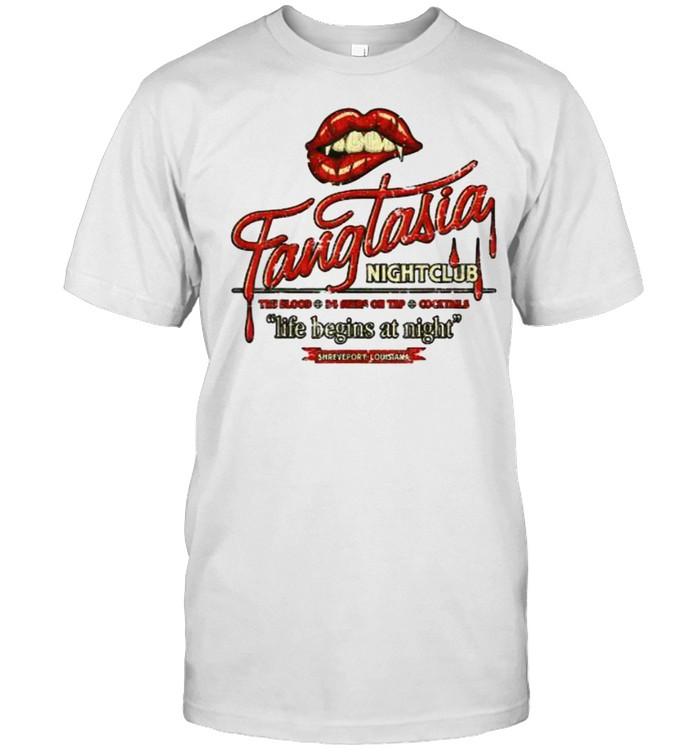 Fangtasia Nightclub Life Begins At Night  Classic Men's T-shirt