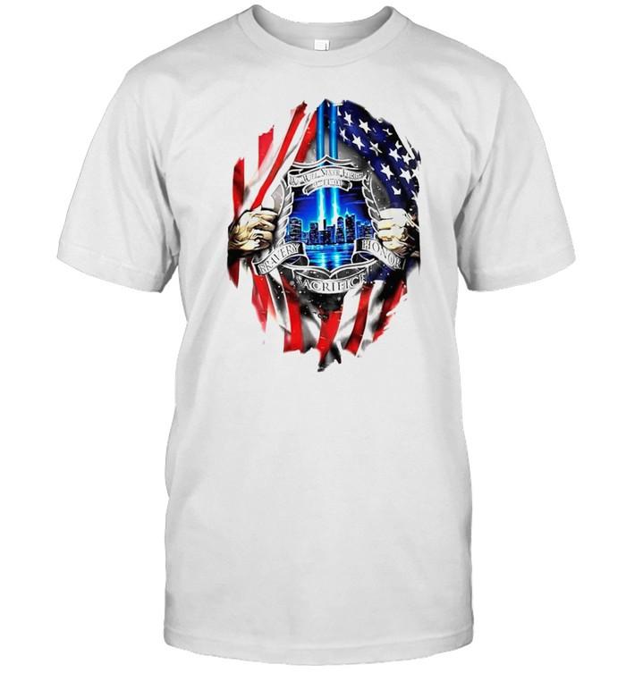 We will never forget bravery honor sacrifice shirt Classic Men's T-shirt