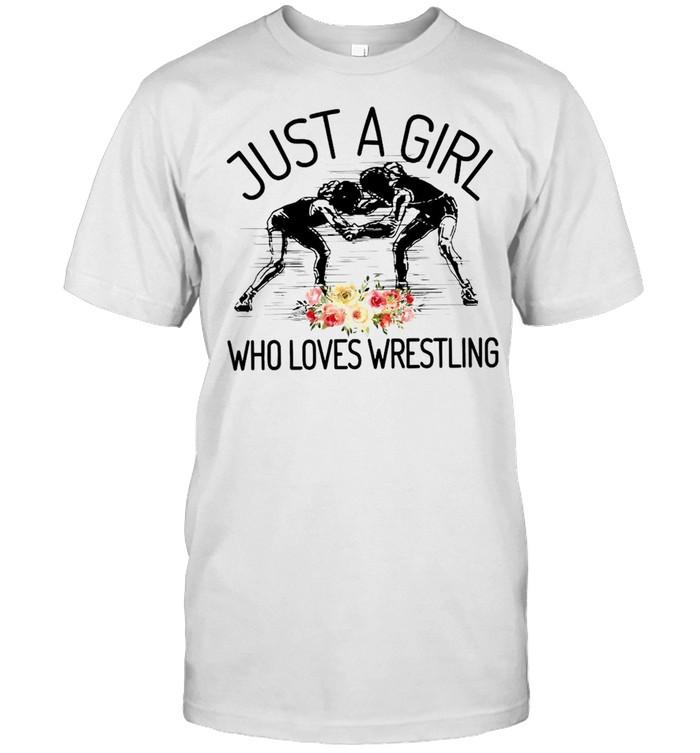 Wrestler Just A Girl Who Loves Wrestling T-shirt Classic Men's T-shirt