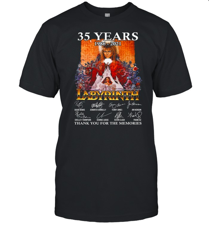35 Years 1986 2021 Labyrinth Thank You For The Memories shirt Classic Men's T-shirt
